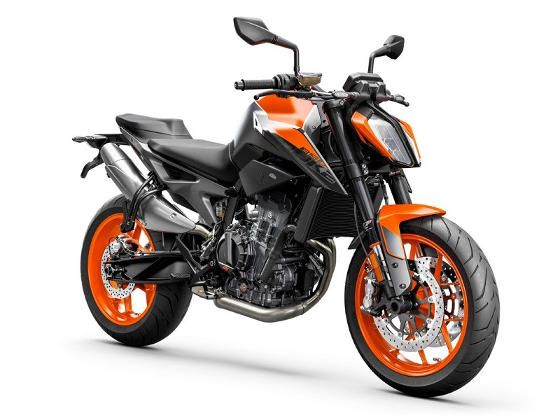 KTM 890 DUKE Studio orange front right