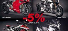 Ducati akcija 5% do 31.12.